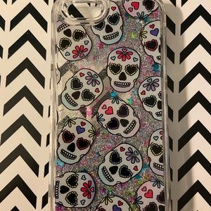 iPhone 6 sparkly skull case